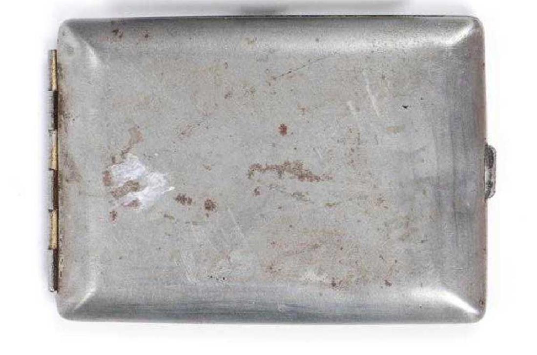 German WW2 Anti-Semitic Cigarette Case - 2