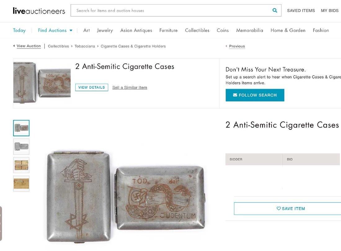 German WW2 Anti-Semitic Cigarette Case - 5