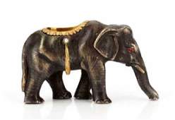 FABERGE - Russian Imperial GOLD & Silver Elephant