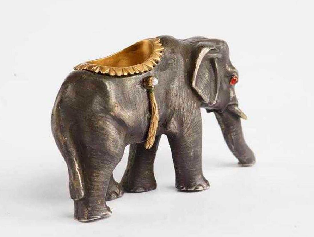FABERGE - Russian Imperial GOLD & Silver Elephant - 2
