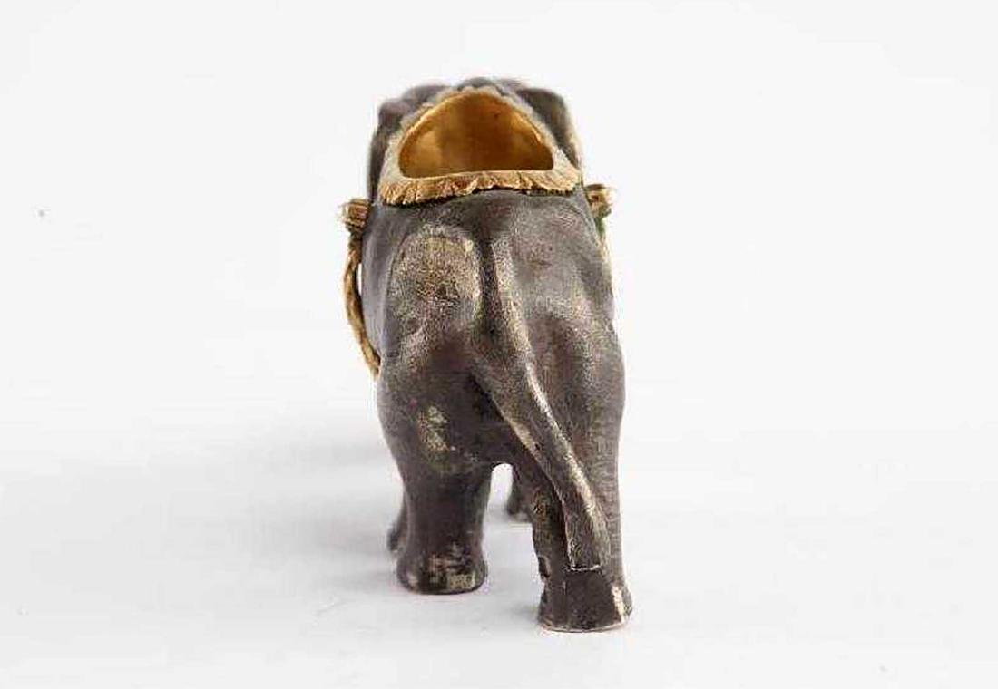 FABERGE - Russian Imperial GOLD & Silver Elephant - 3