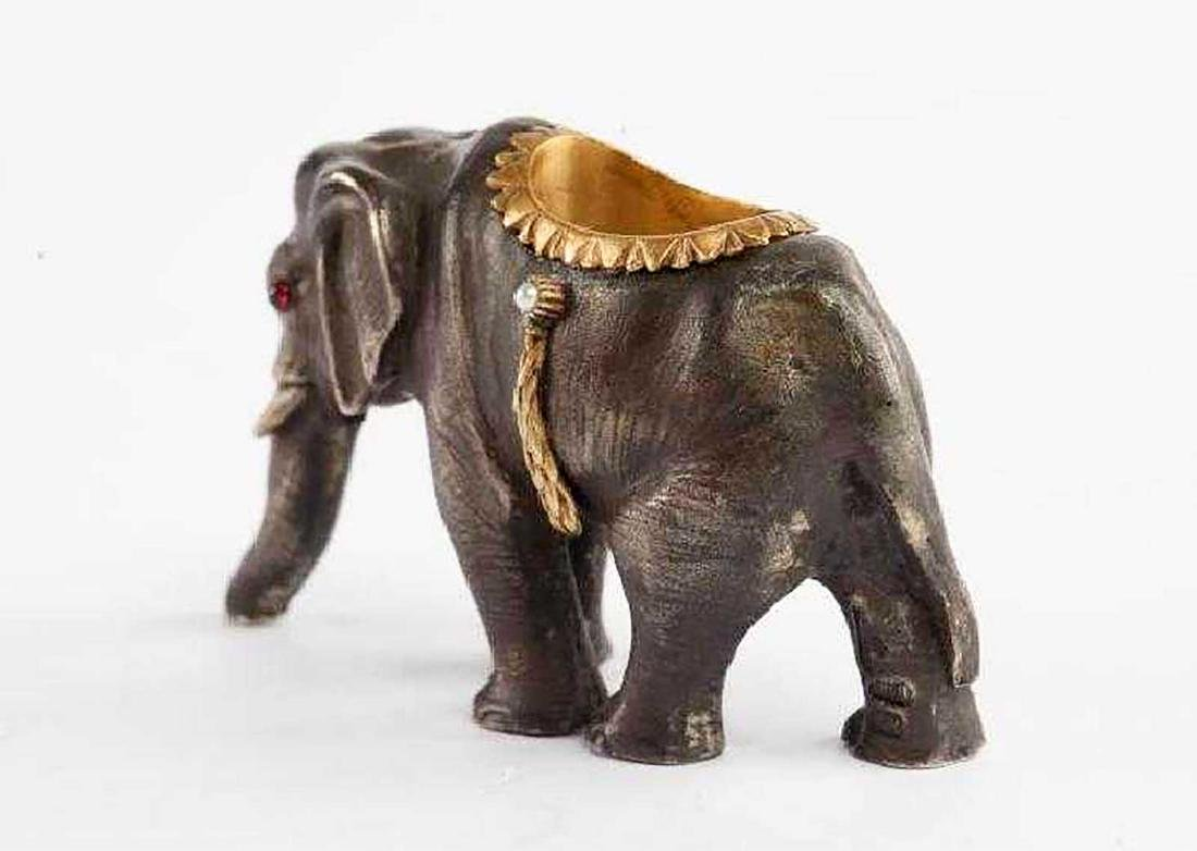 FABERGE - Russian Imperial GOLD & Silver Elephant - 4