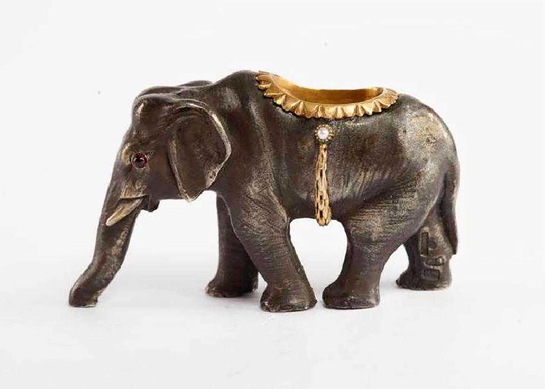 FABERGE - Russian Imperial GOLD & Silver Elephant - 5