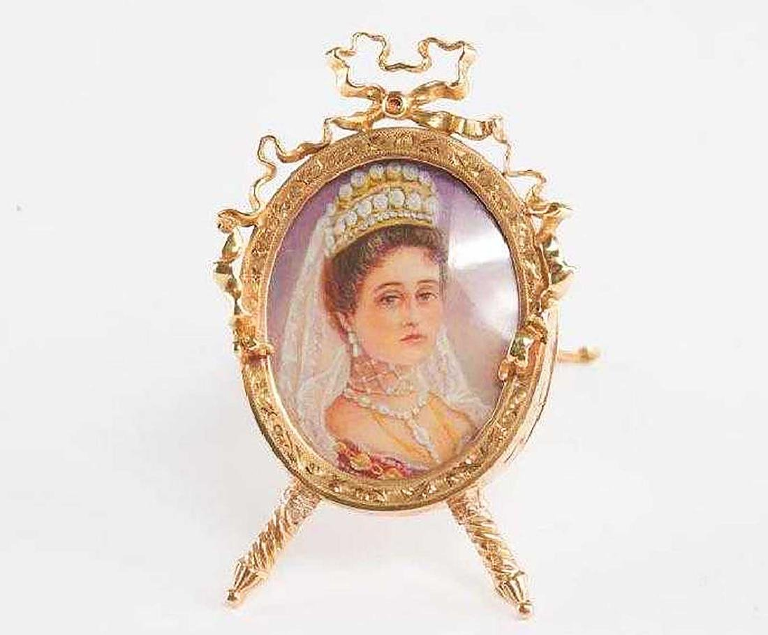FABERGE - Russian Imperial GOLD Picture Frame