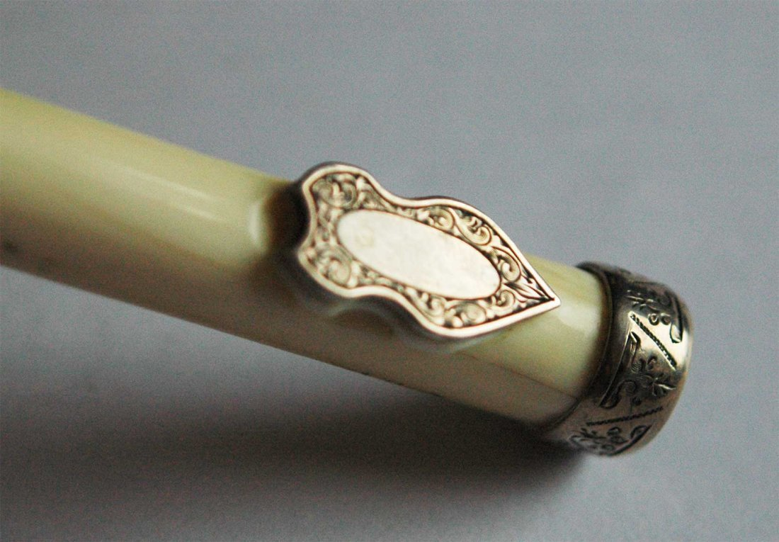 FABERGE - Russian Walking Stick Handle Natural Carved - 7