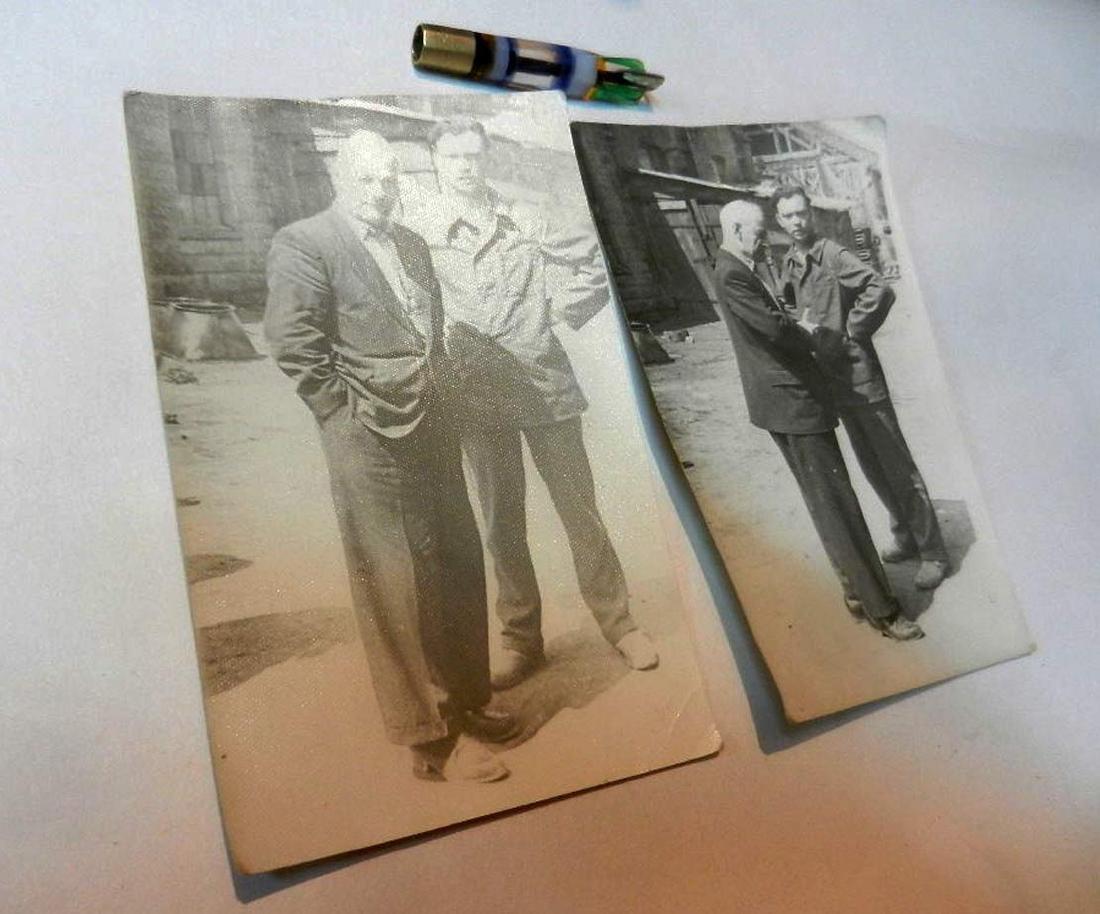 Russian Soviet 2 Photos fr. Kolyma+Cigarette Pipe, 1937