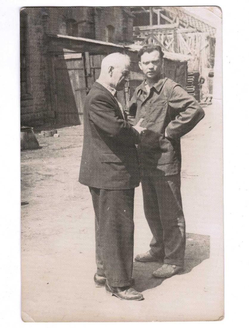 Russian Soviet 2 Photos fr. Kolyma+Cigarette Pipe, 1937 - 2