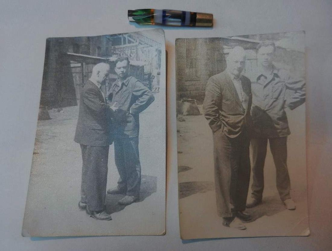 Russian Soviet 2 Photos fr. Kolyma+Cigarette Pipe, 1937 - 4