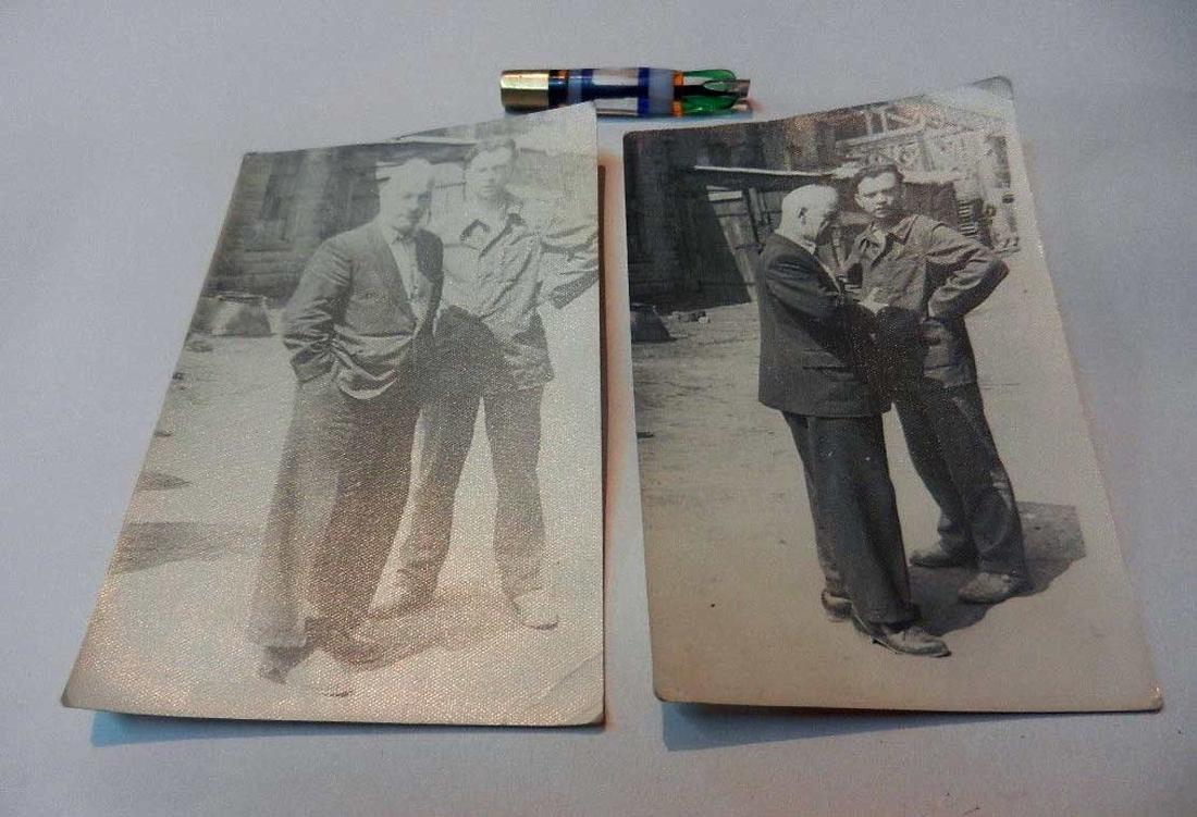 Russian Soviet 2 Photos fr. Kolyma+Cigarette Pipe, 1937 - 5