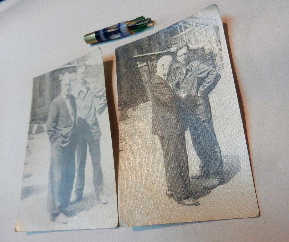 Russian Soviet 2 Photos fr. Kolyma+Cigarette Pipe, 1937 - 6