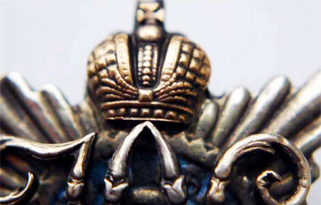 Russian Imperial Badge Military District+Owners PHOTO - 4
