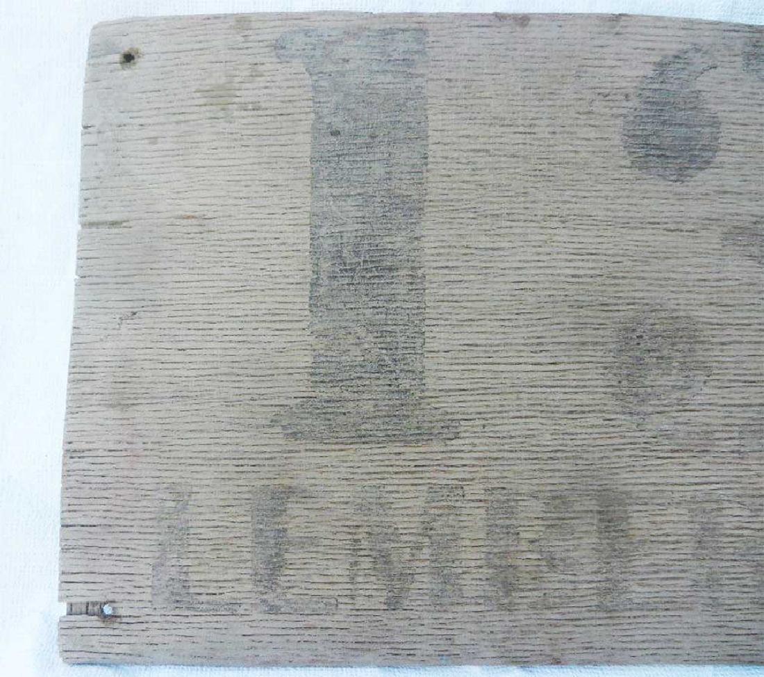 Original Rare German WW2 Road Sign LEMBERG - 13 km - 3