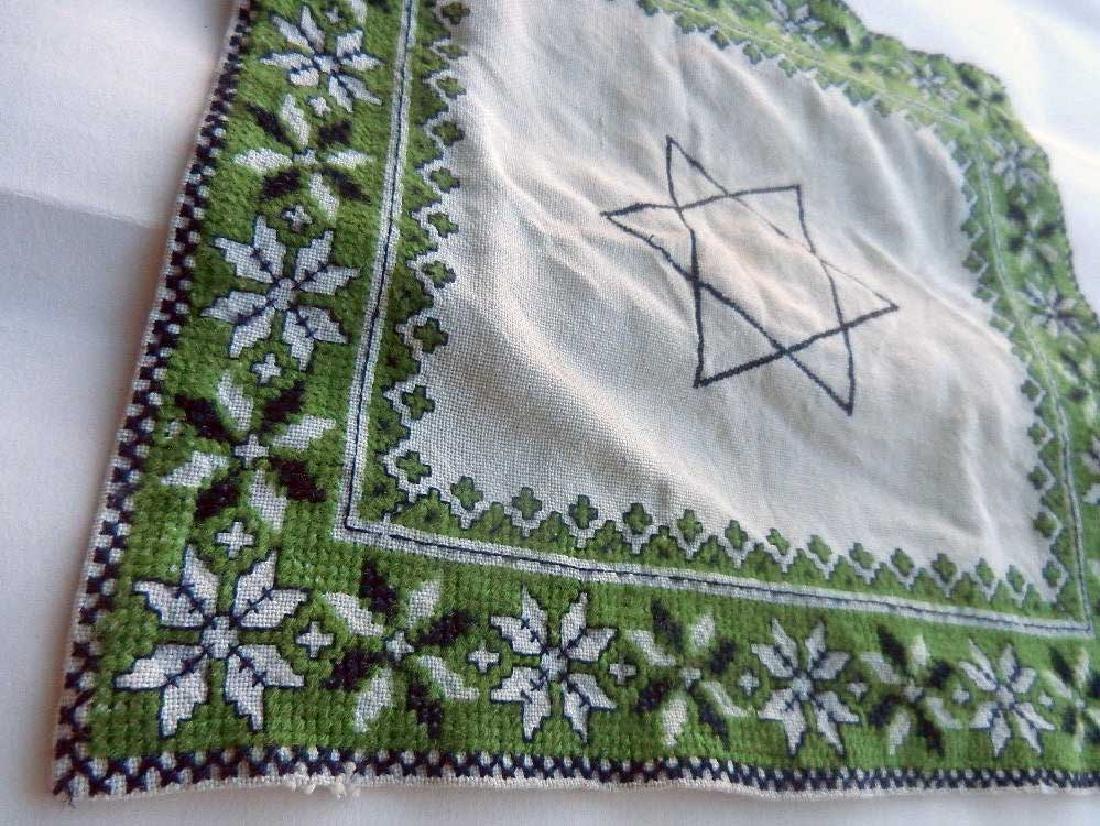 Jewish WW2 Napkin w. Star of David, Litzmannstadt - 5