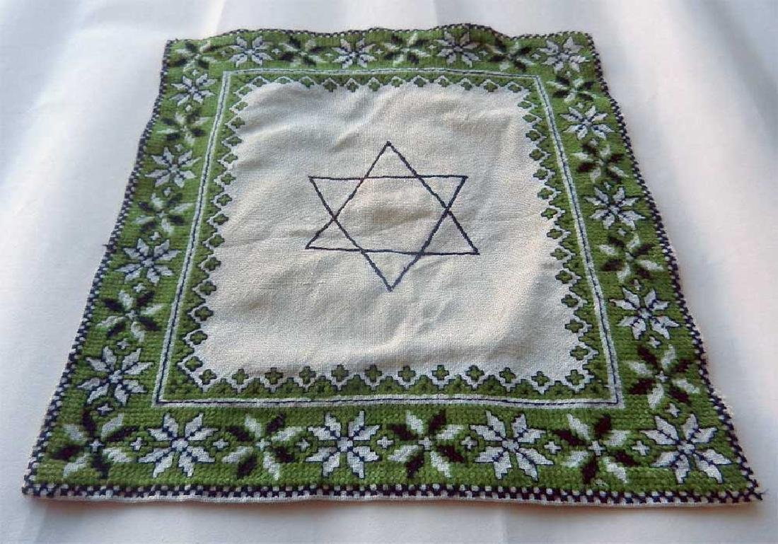 Jewish WW2 Napkin w. Star of David, Litzmannstadt - 7