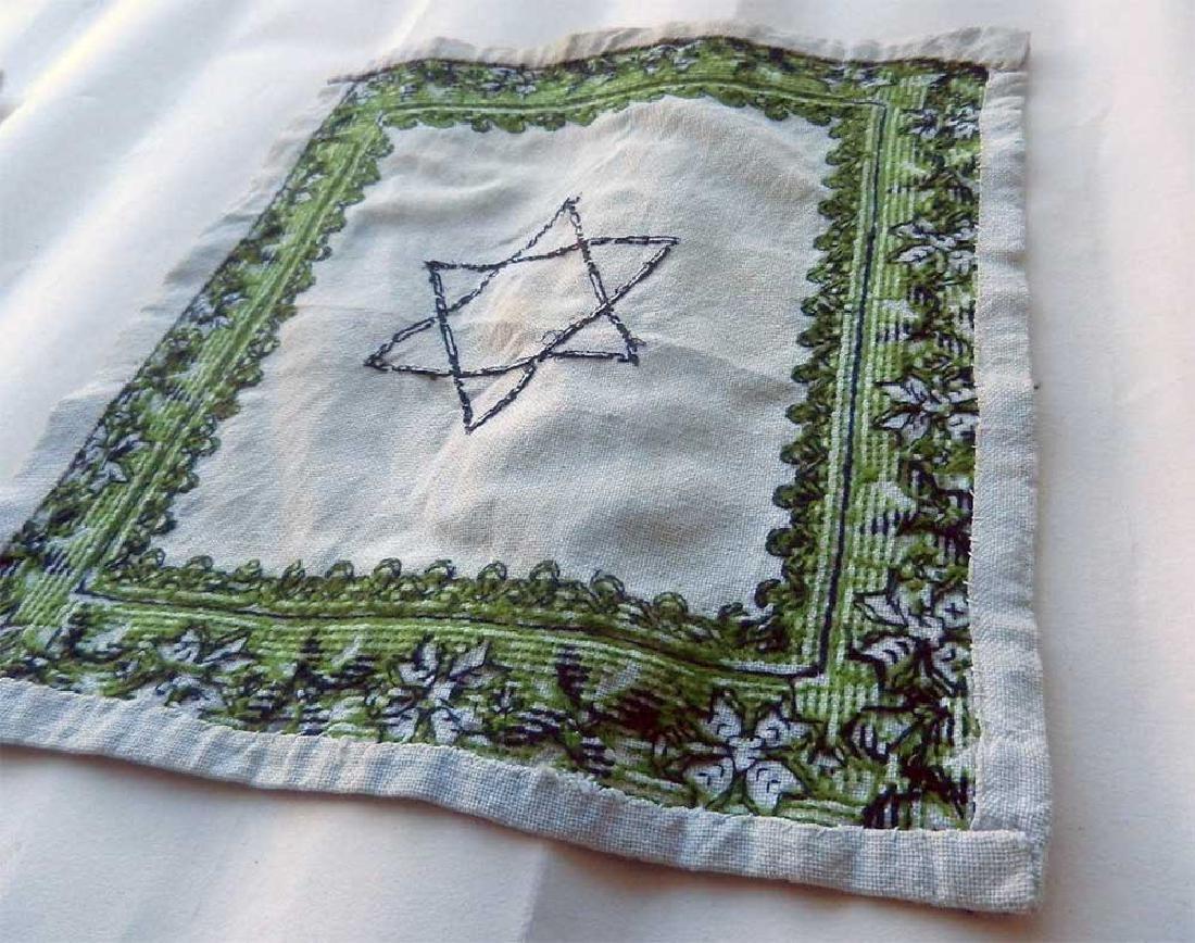 Jewish WW2 Napkin w. Star of David, Litzmannstadt - 9