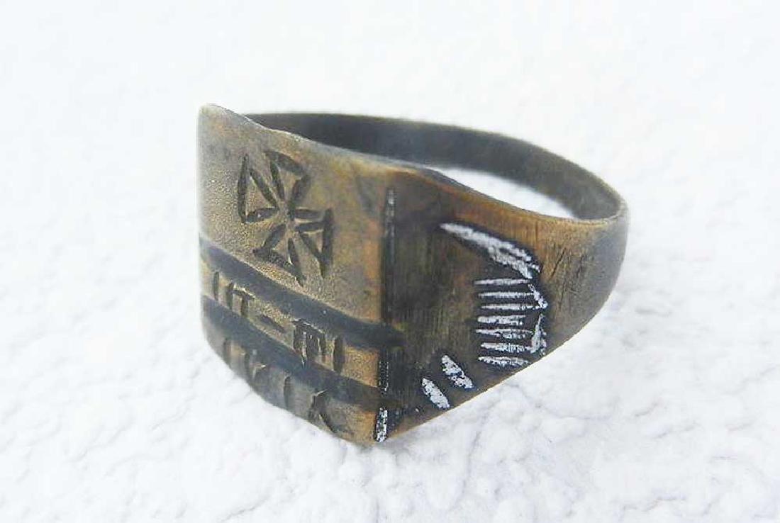 Original German WW21 Ring w. Isern Cross, 1916 - 2