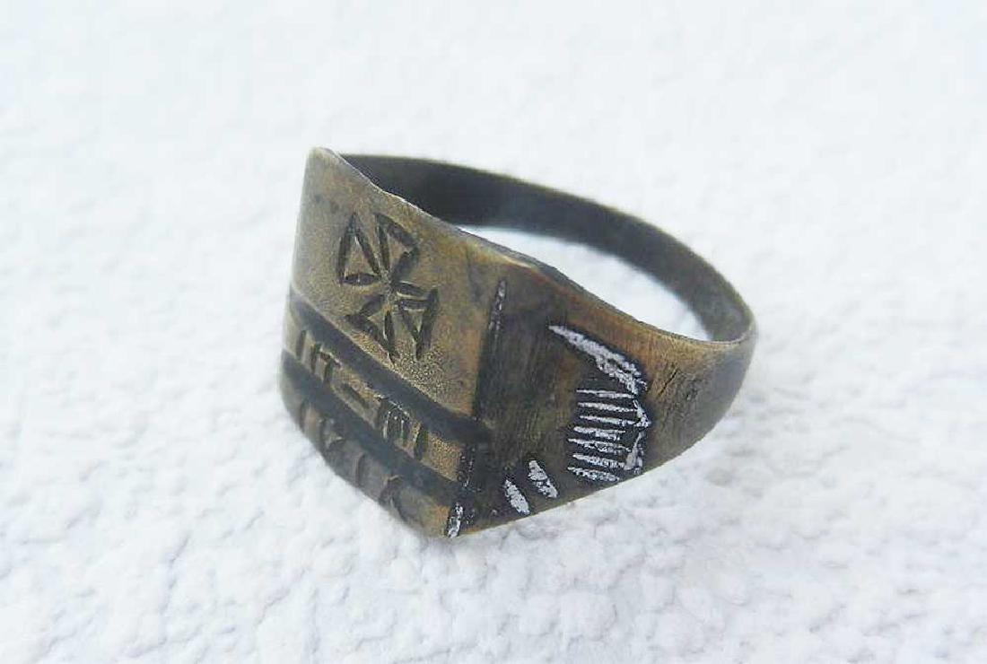Original German WW21 Ring w. Isern Cross, 1916 - 5