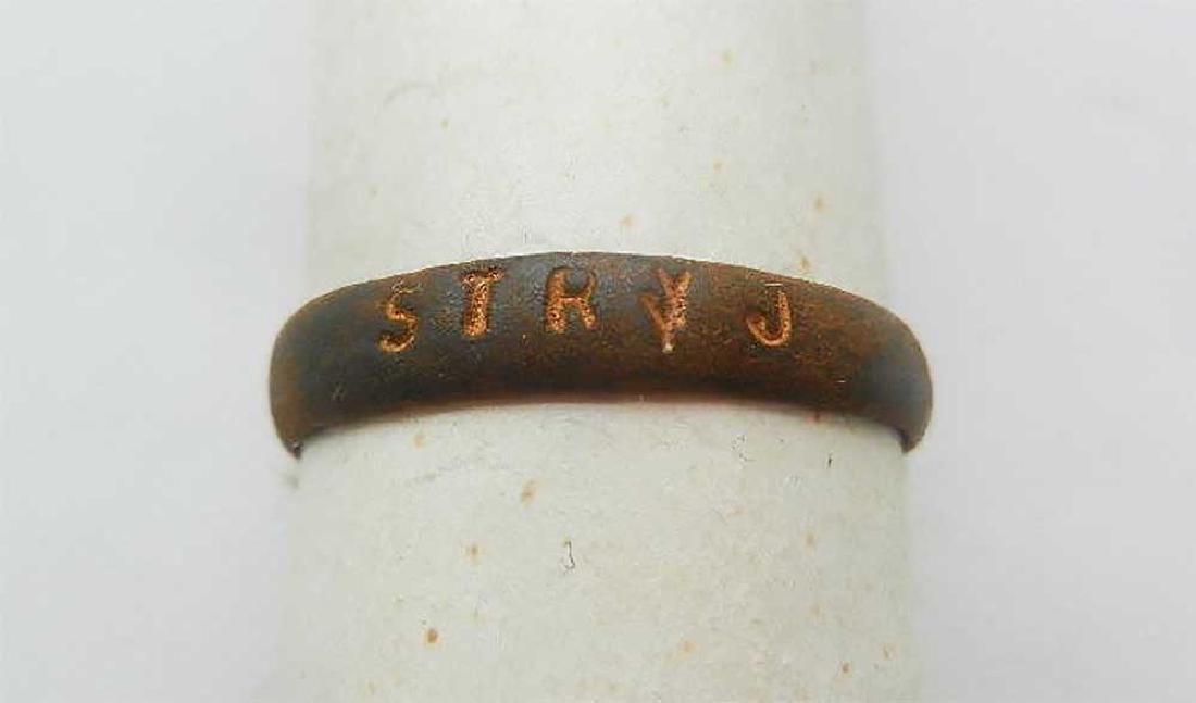 Jewish WW2 Ring STRYJ fr. Lemberg Lviv, Ukraine - 4