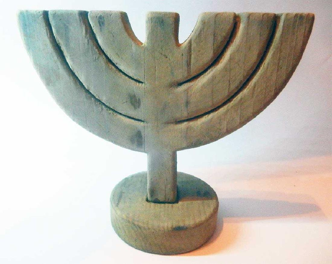 Original Jewish WW2 Menorah fr. Litzmannstadt - 3