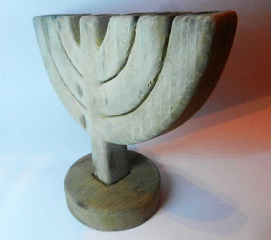 Original Jewish WW2 Menorah fr. Litzmannstadt - 6