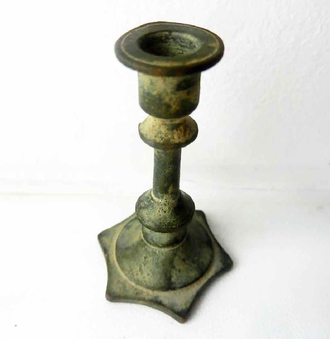 Jewish WW2 Candlestick w. Star of David, Litzmannstadt