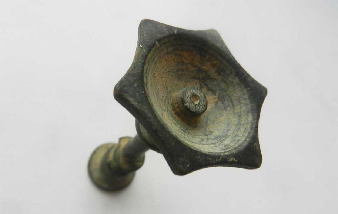Jewish WW2 Candlestick w. Star of David, Litzmannstadt - 5