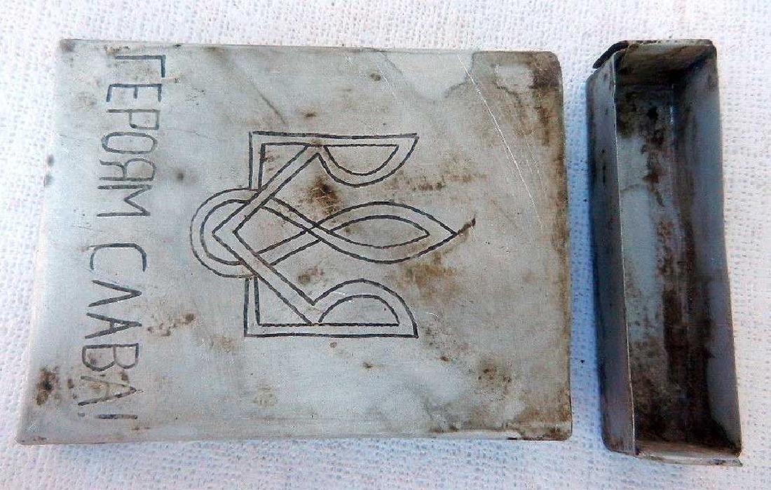 Ukrainian WW2 Cigarette Case fr. UPA-OUN - 6