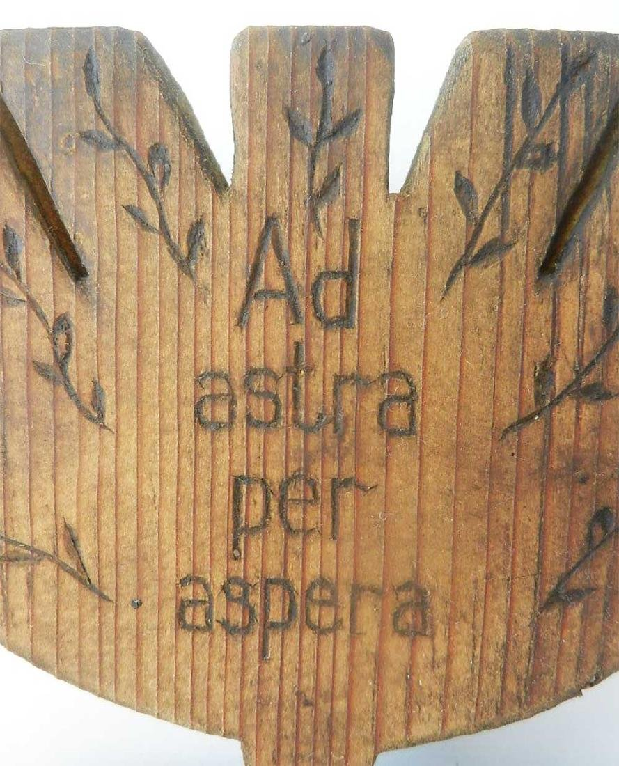 Jewish WW2 Menorah PER ASPERA AD ASTRA - 7