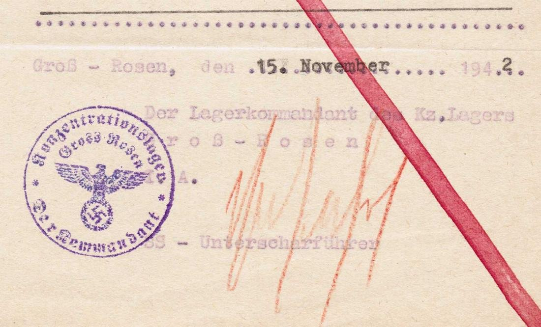 German WW2 Death Certificate for JEW fr. KL, KZ - 4