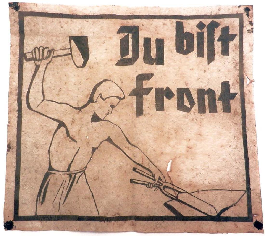 Original German WW2 Large Poster DU BIST FRONT