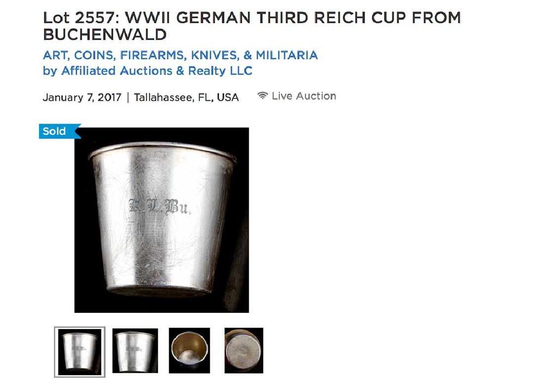 German WWII Cup fr. BUCHENWALD KZ KL - 7
