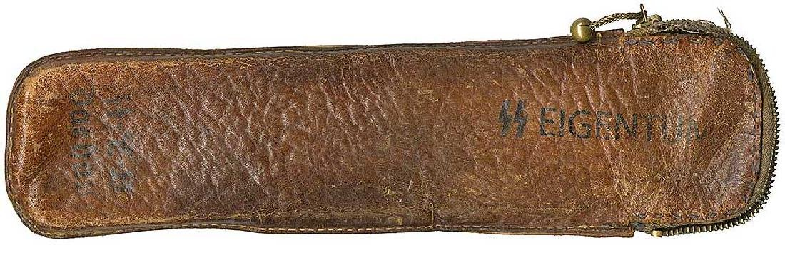 German WW2 Leather Instrument Case, KZ Dachau