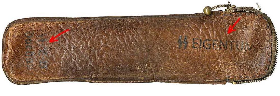 German WW2 Leather Instrument Case, KZ Dachau - 3