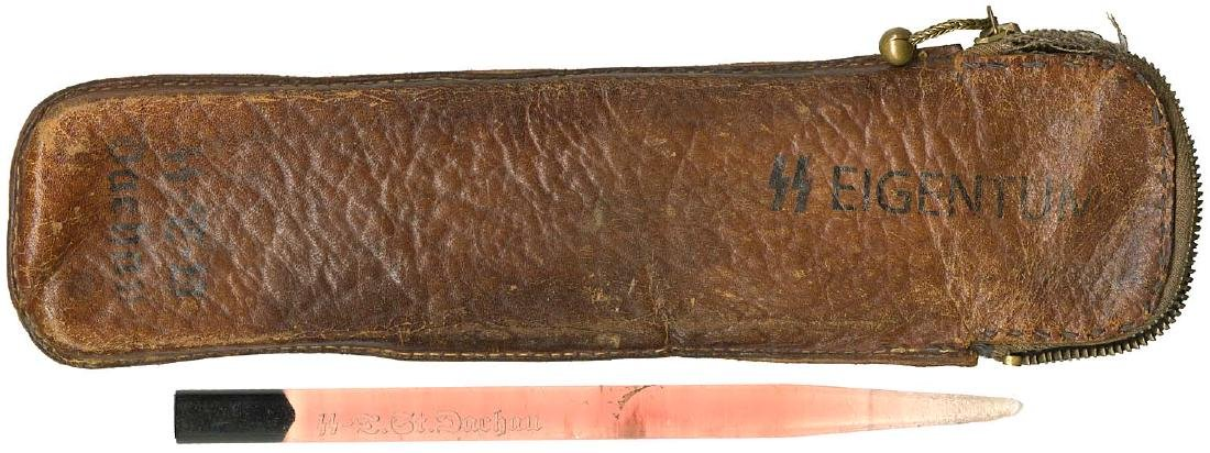 German WW2 Leather Instrument Case, KZ Dachau - 5