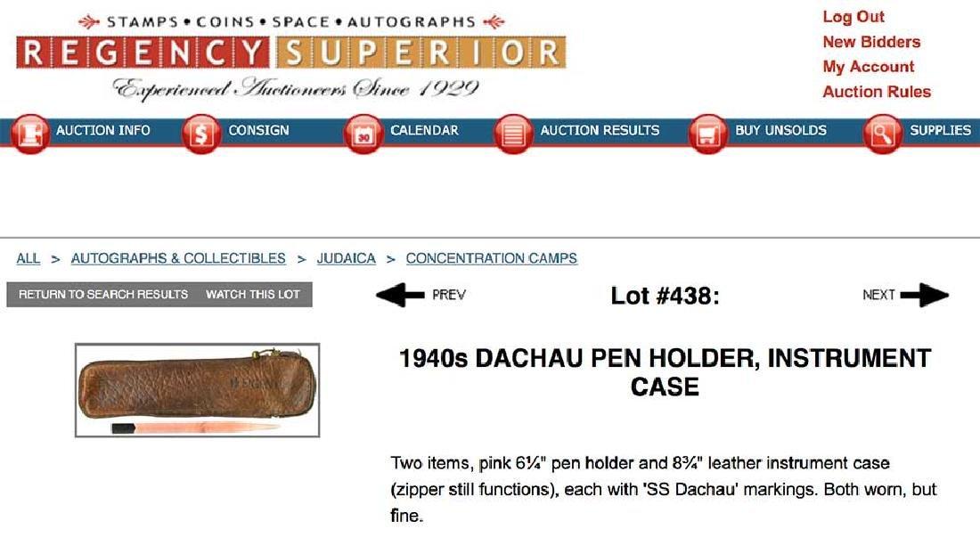 German WW2 Leather Instrument Case, KZ Dachau - 6
