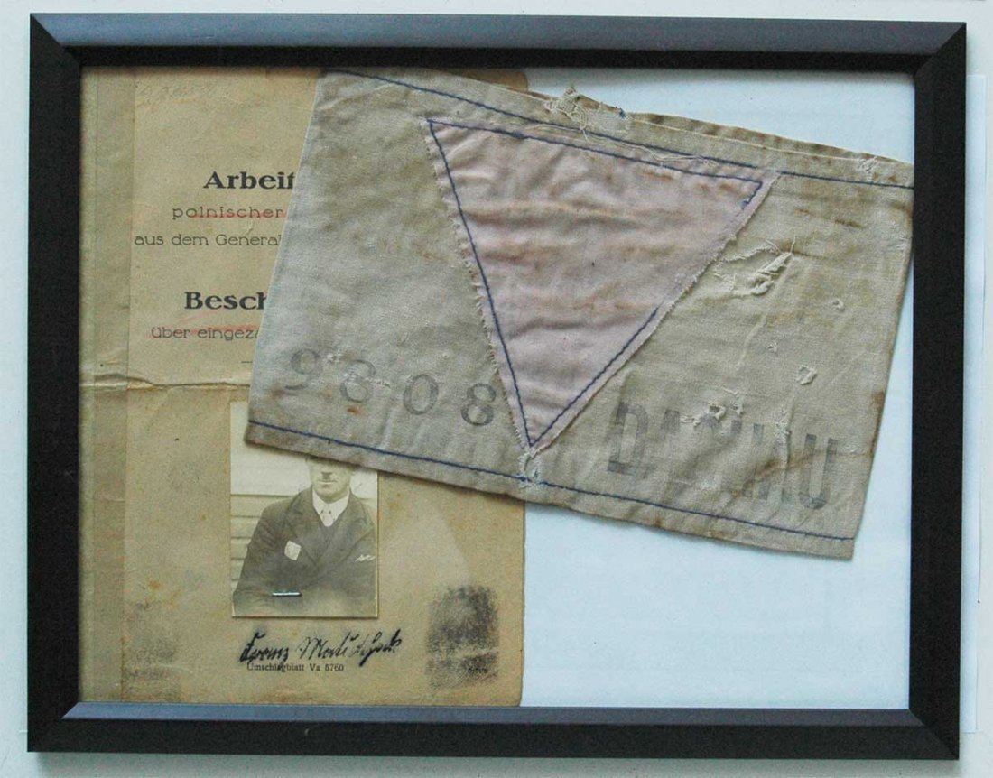 German WW2 Armband for Homosexual fr. Dachau