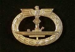 German WW2 Kriegsmarine U-Boat Badge, Bacqueville