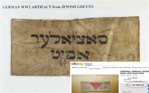 Jewish WW2 Armband fr  LITZMANNSDADT Ghetto