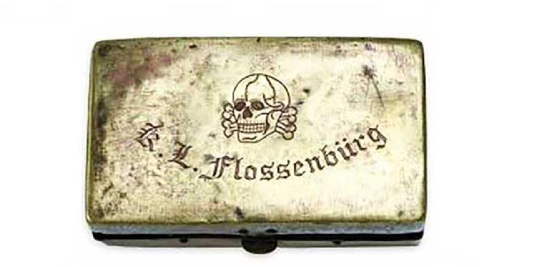 WW2 Metal Box w. SS Markings fr. KZ Flossenburg