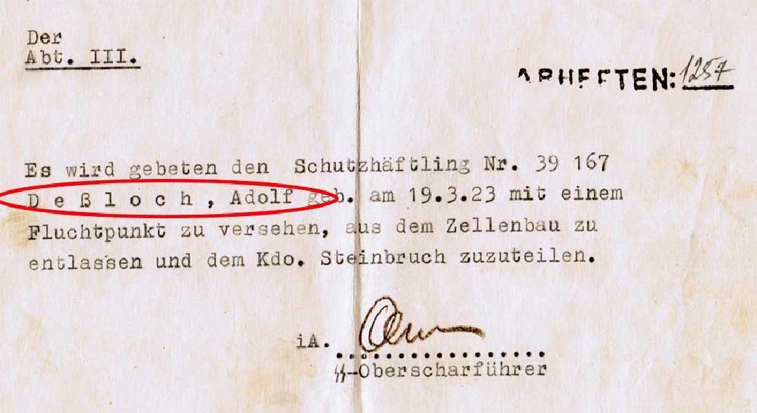 German WW2 Document, Murdered Prisoners in KZ - 3