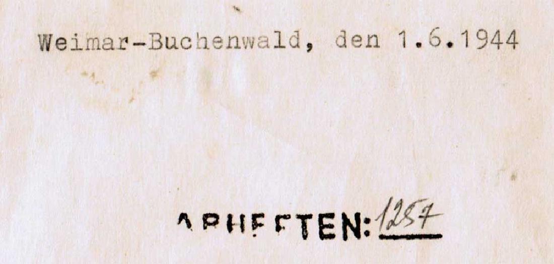 German WW2 Document, Murdered Prisoners in KZ - 4