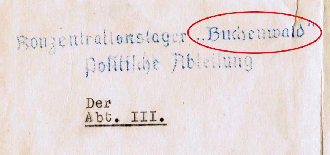 German WW2 Document, Murdered Prisoners in KZ - 5