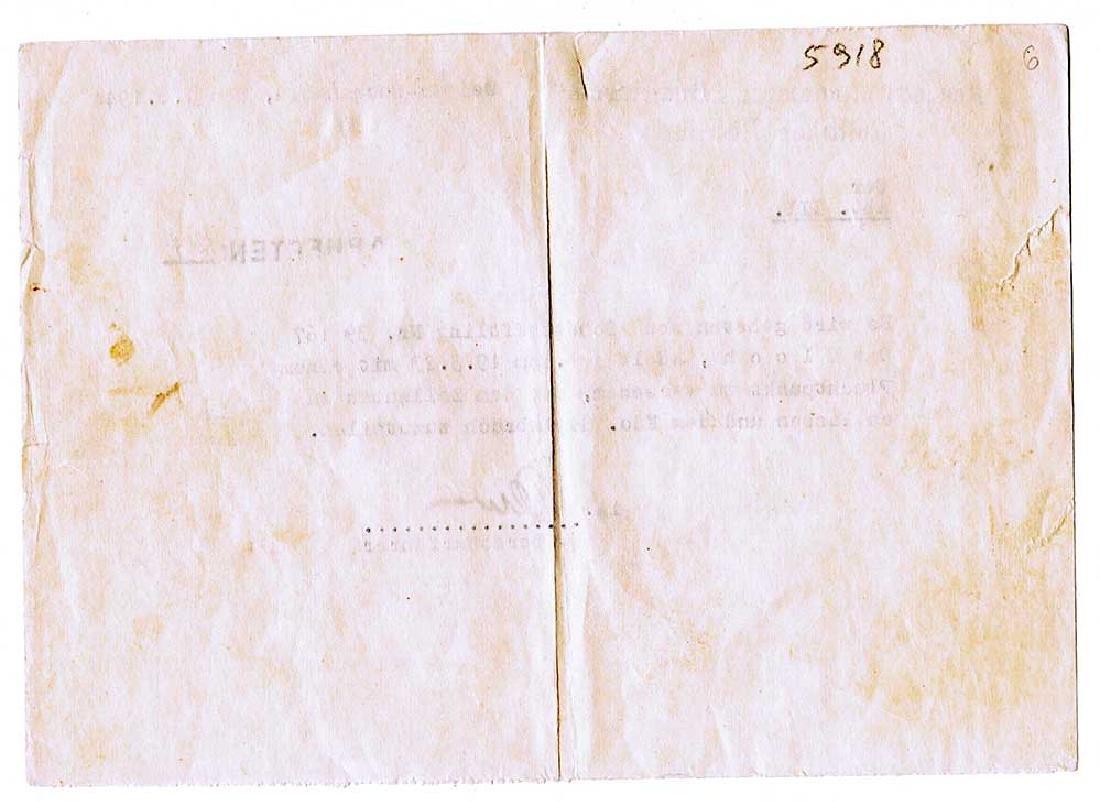 German WW2 Document, Murdered Prisoners in KZ - 6