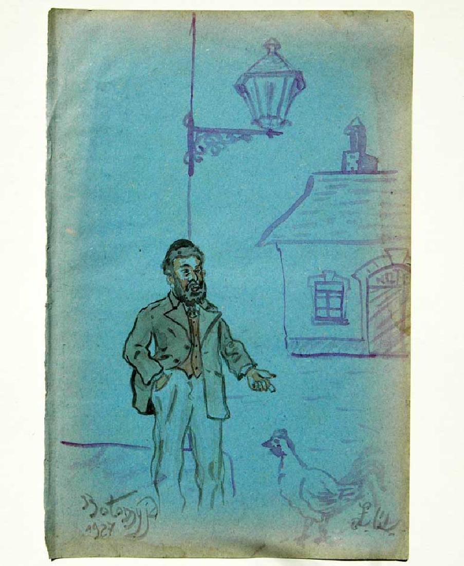 JEWISH PICTURE of FAMOUS AUTHOR, 1927 KOLOMYJA