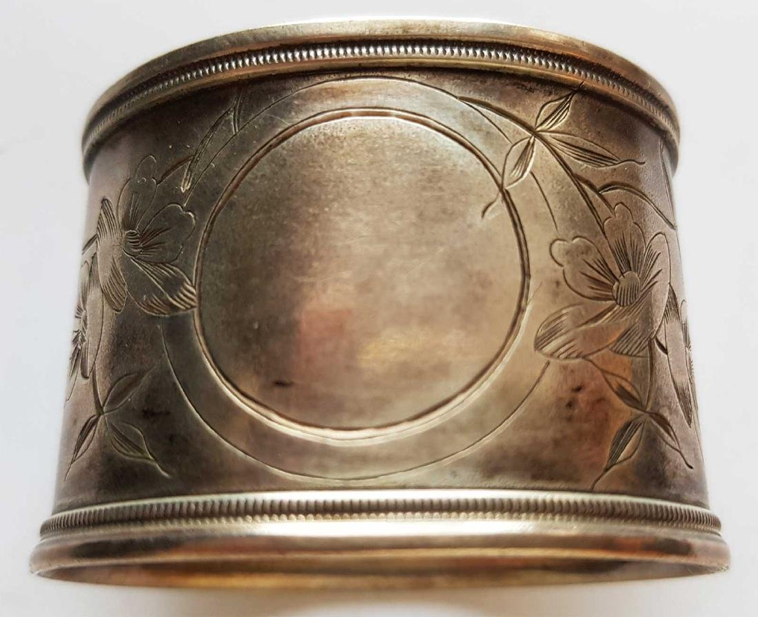FABERGE - RUSSIAN SILVER NAPKIN RING, MARKED - May 18, 2019