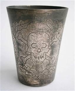 ORIGINAL GERMAN WW2 DRINK SHOT w SKULL BONES