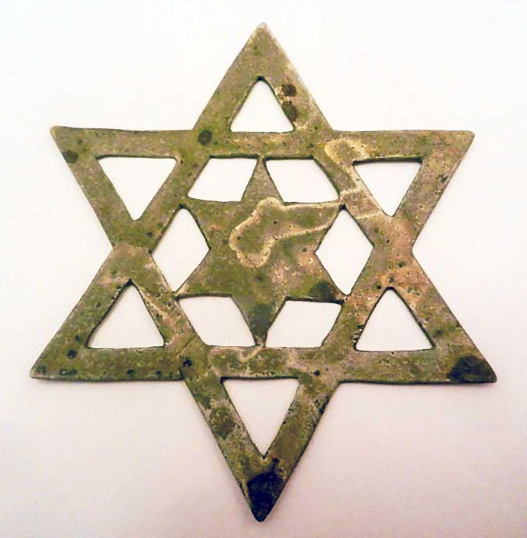 JEWISH WW2 STAR of DAVID w. STAR INSIDE