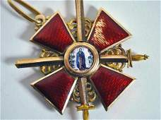 FABERGE - RUSSIAN ORDER of St. ANNE 2nd CLASS