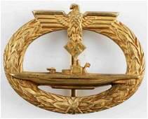 GERMAN WW2 SILVER U-BOAT BADGE, JUNCKER