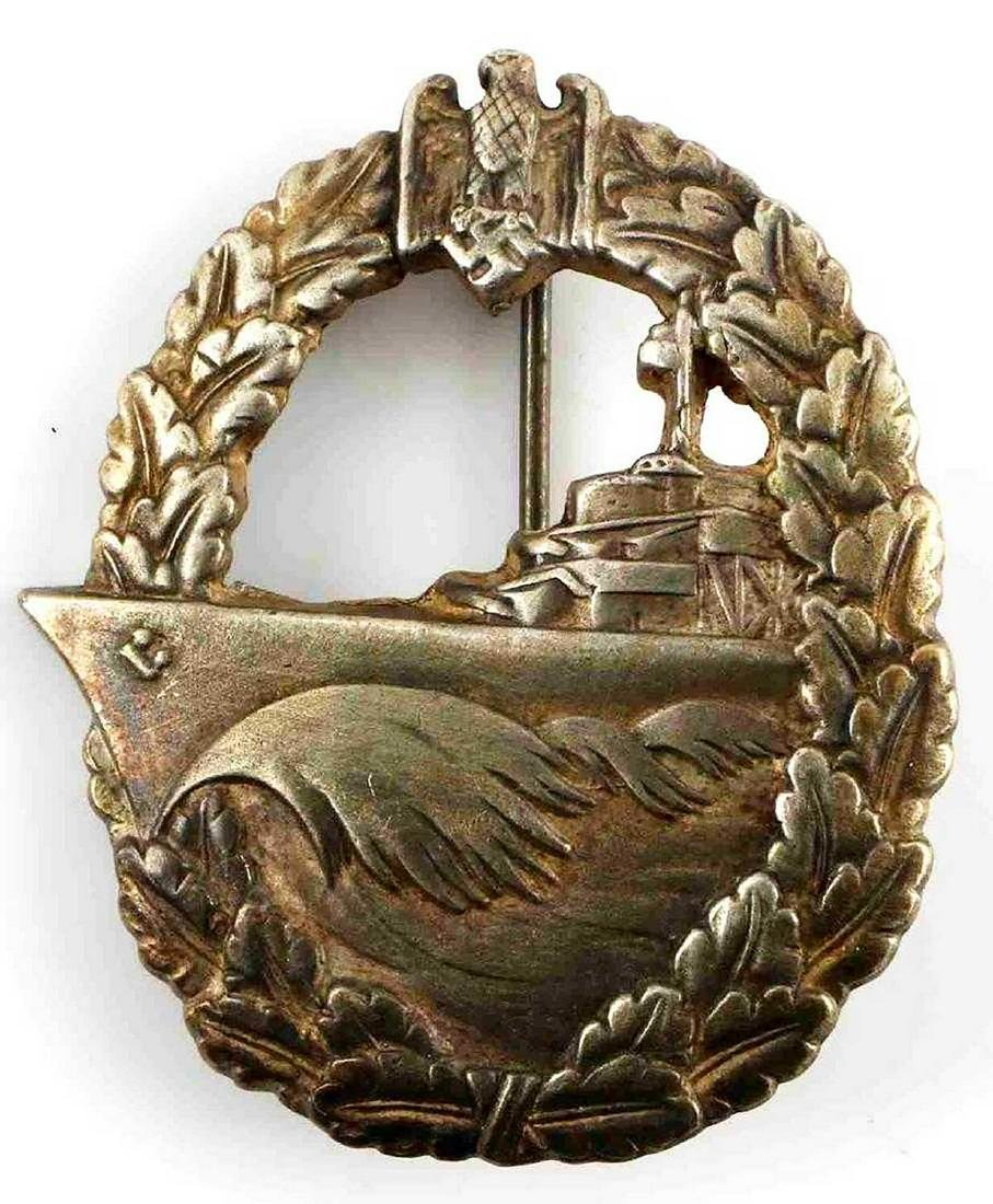 GERMAN WW2 KRIEGSMARINE NAVAL DESTROYER BADGE